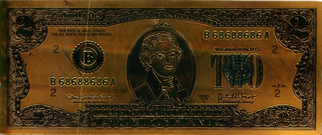 2 доллара (США, сувенирная банкнота)