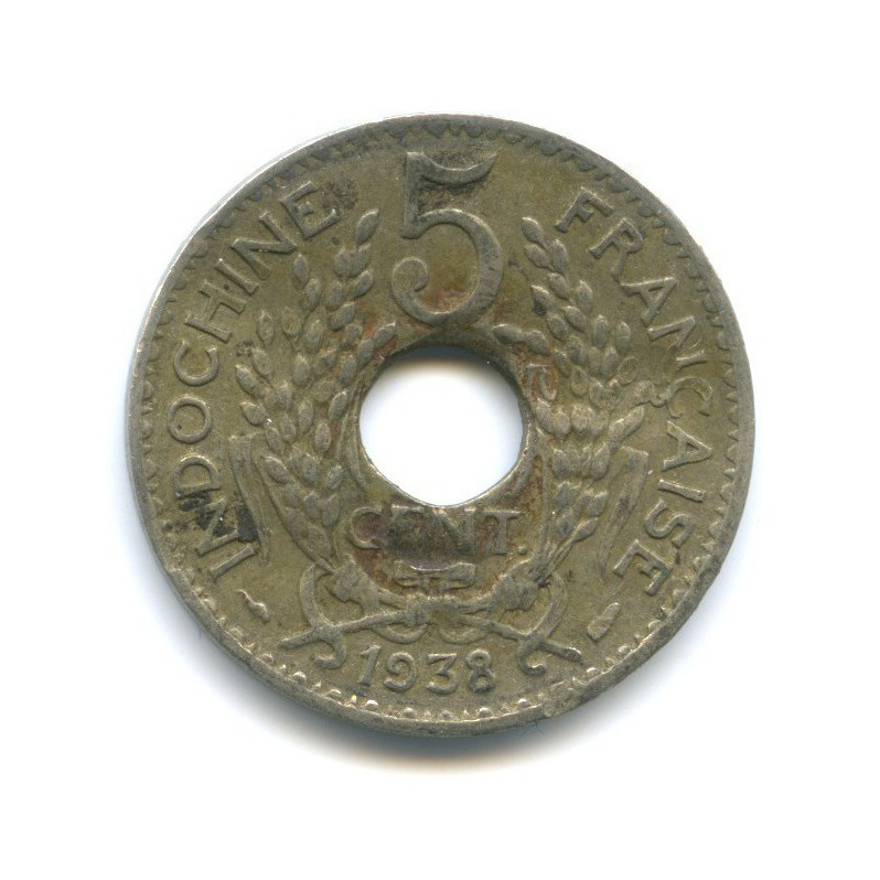 5 центов, Французский Индокитай 1938 года