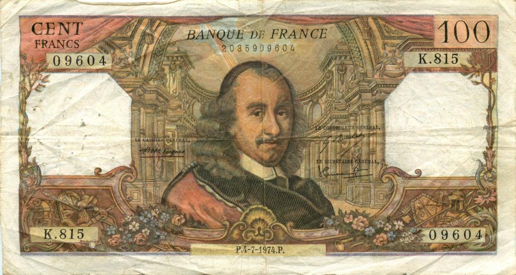 100 франков 1974 года (Франция)