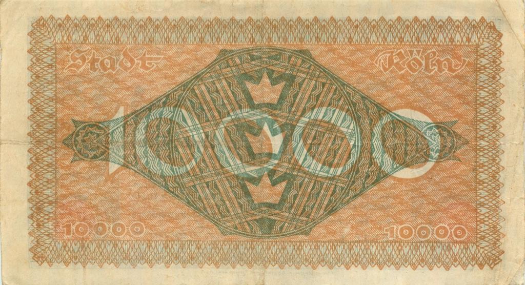10000 марок (нотгельд, Кёльн) 1923 года (Германия)