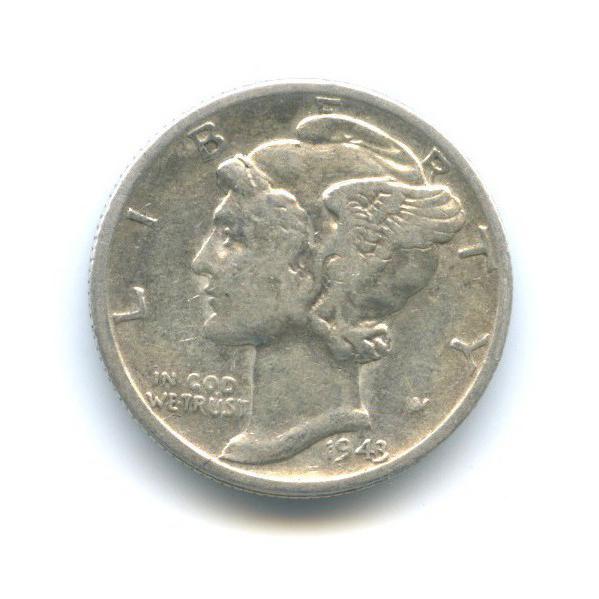 10 центов (дайм) 1943 года D (США)