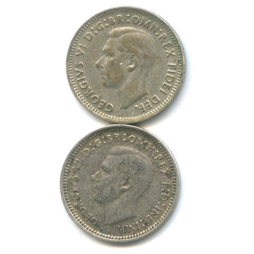 Набор монет 3 пенса 1948, 1952 (Австралия)