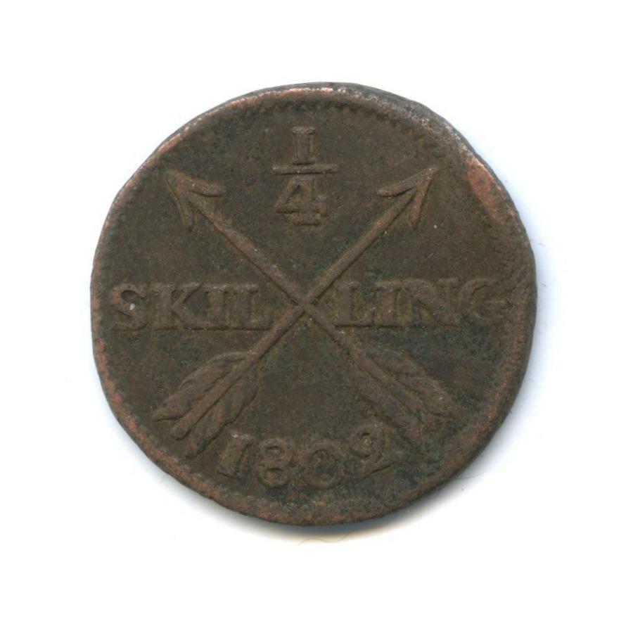 1/4 скиллинга - Густав IVАдольф 1802 года (Швеция)