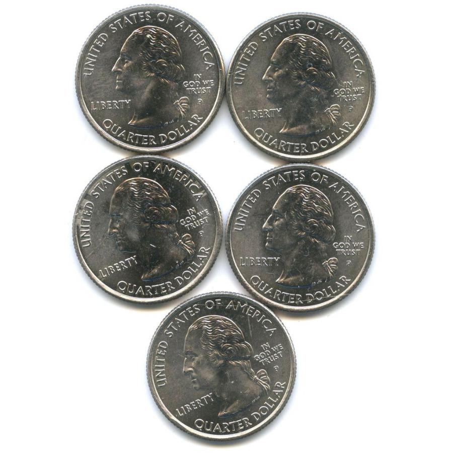 Набор монет 25 центов (квотер) — Штаты итерритории 2008 года (США)