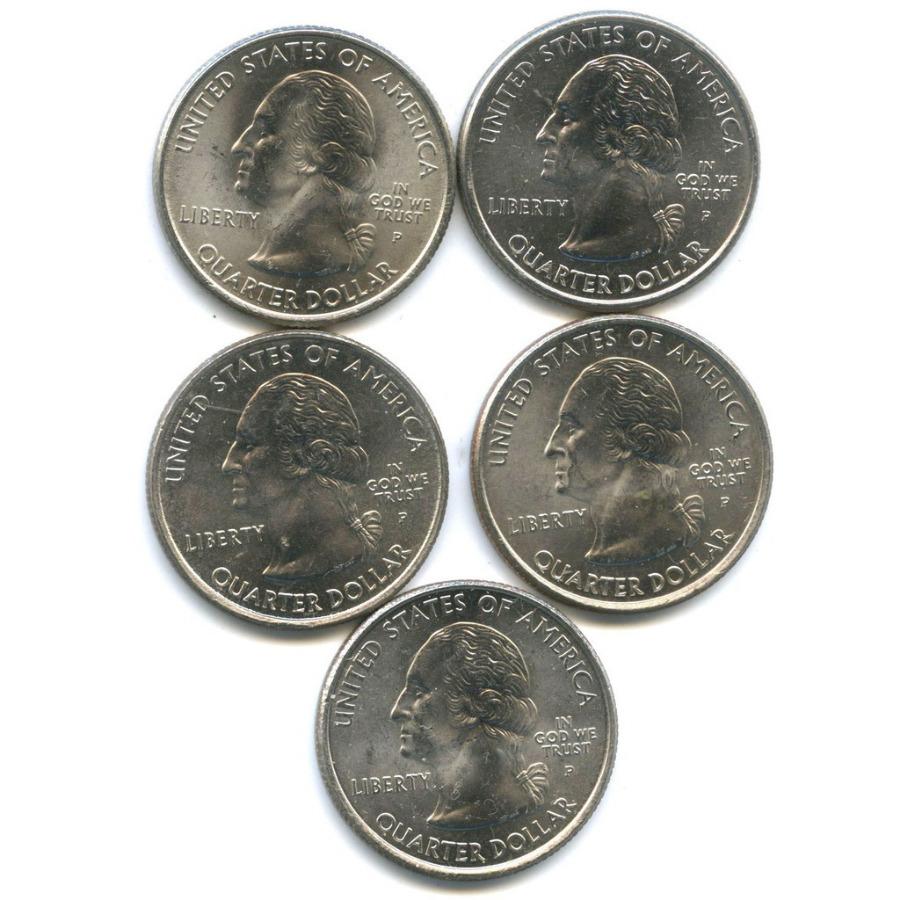 Набор монет 25 центов (квотер) — Штаты итерритории 2001 года (США)