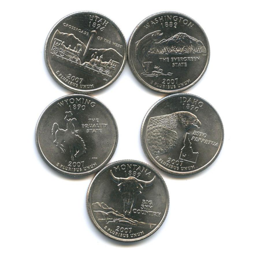 Набор монет 25 центов (квотер) — Штаты итерритории 2007 года (США)