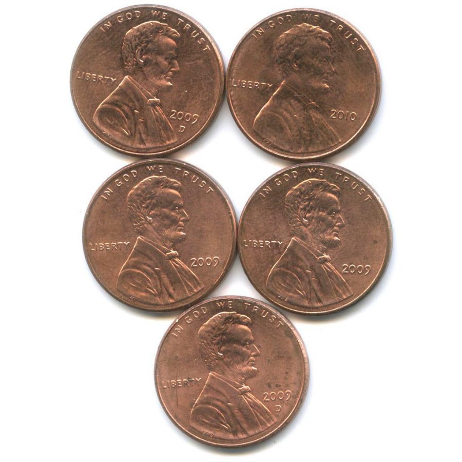 Набор монет 1 цент — 200 лет содня рождения Авраама Линкольна, Щит Содружества 2009, 2010 (США)