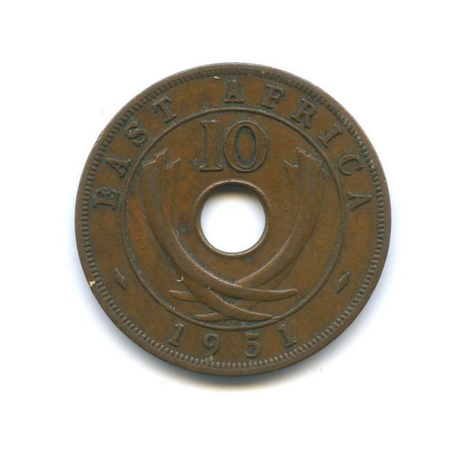 10 центов, Восточная Африка 1951 года