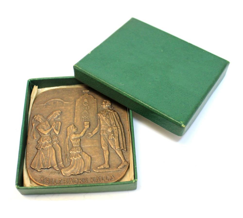 Медаль настольная «Kallebäcks källa» 1949 года (Швеция)