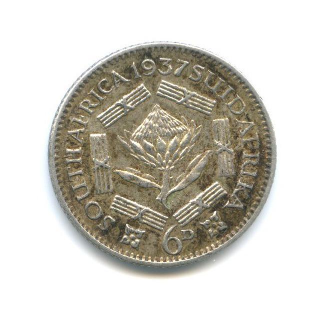 6 пенсов 1937 года (ЮАР)
