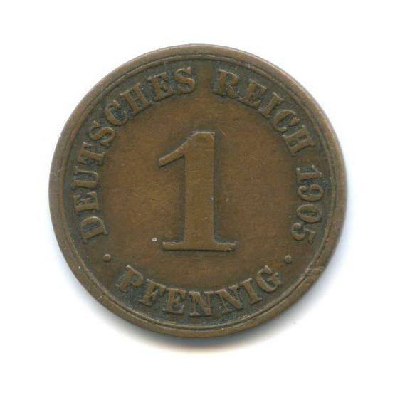 1 пфенниг 1905 года А (Германия)