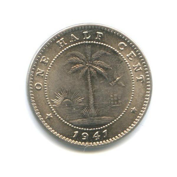 1/2 цента, Либерия 1941 года