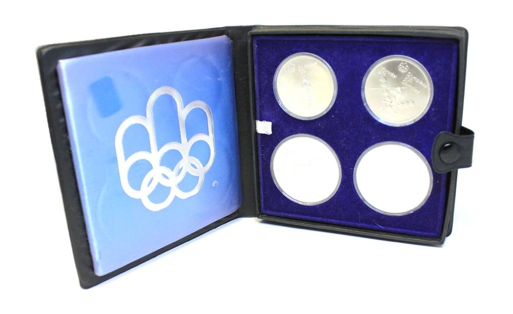 Набор монет - Олимпийские игры, Монреаль 1976 (капсулы невскрывались, вфутляре) 1975 года (Канада)