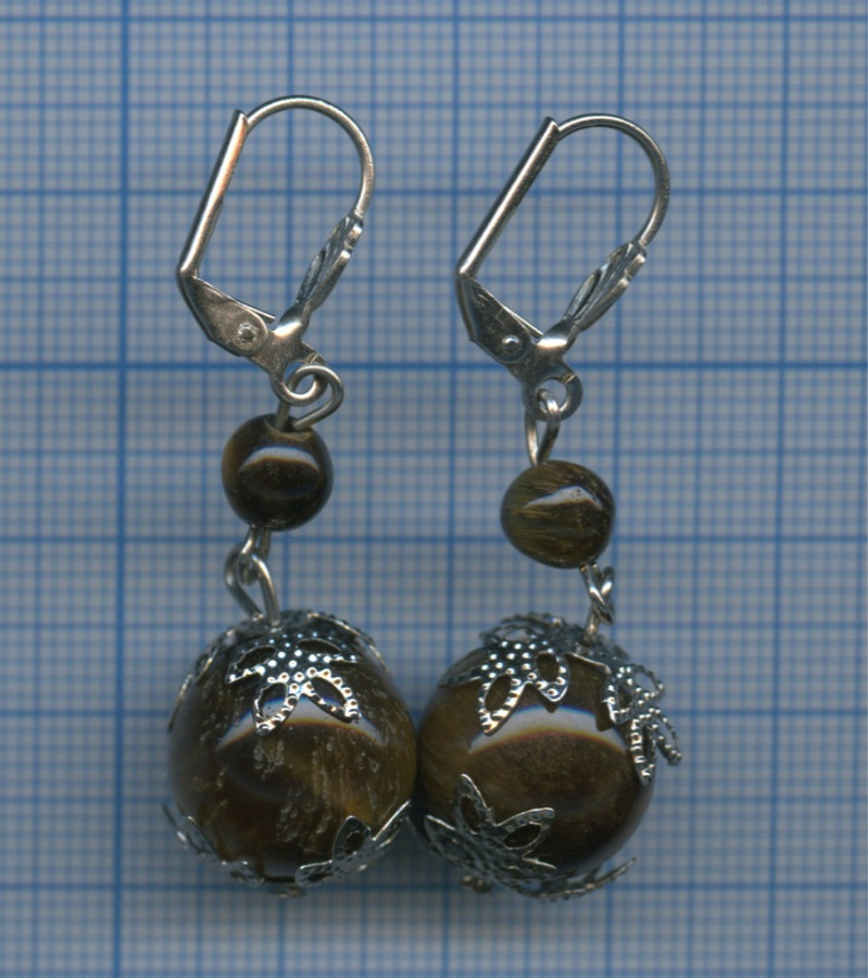 Серьги, натуральный камень