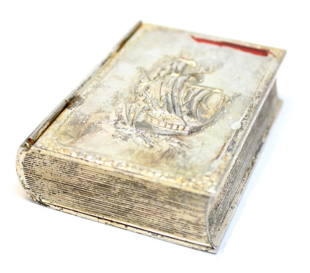Шкатулка «Книга спарусником», 8,5×6,5 см, Европа