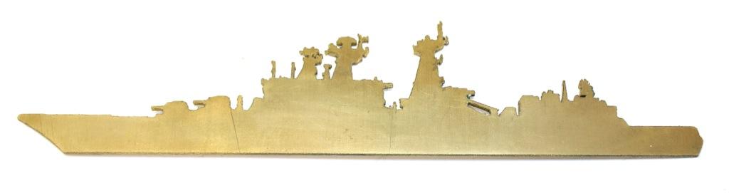 Кораблик декоративный (латунь, 21 см)