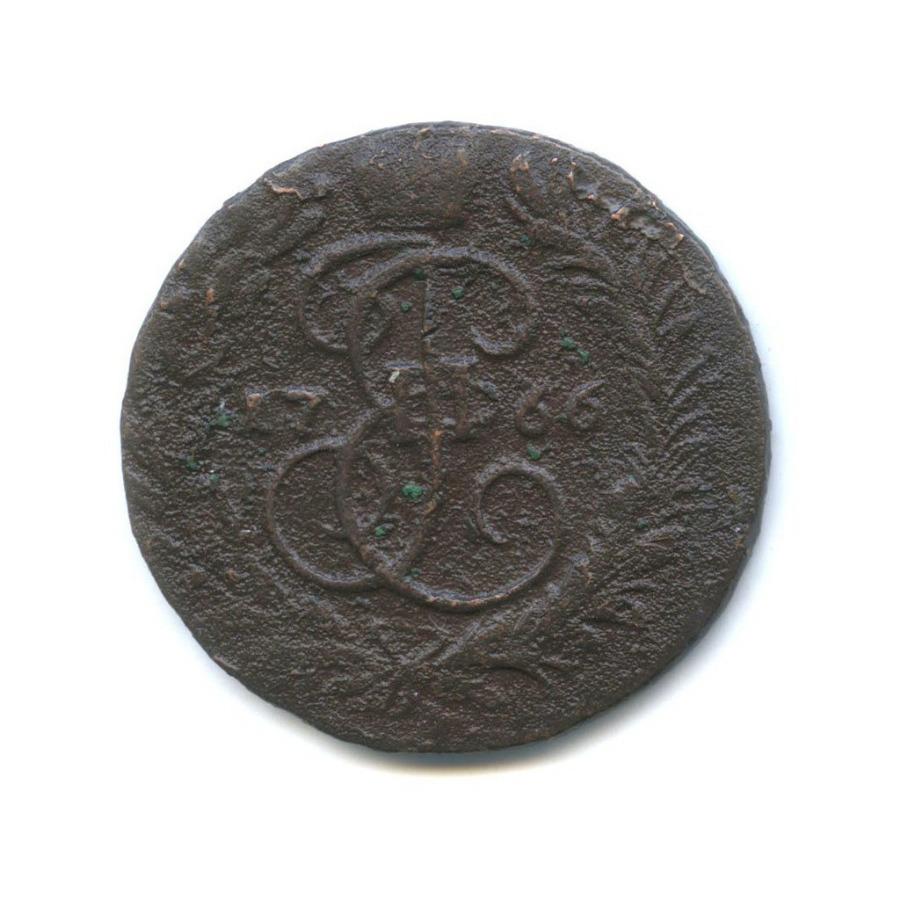 2 копейки (перечекан) 1766 года (Российская Империя)