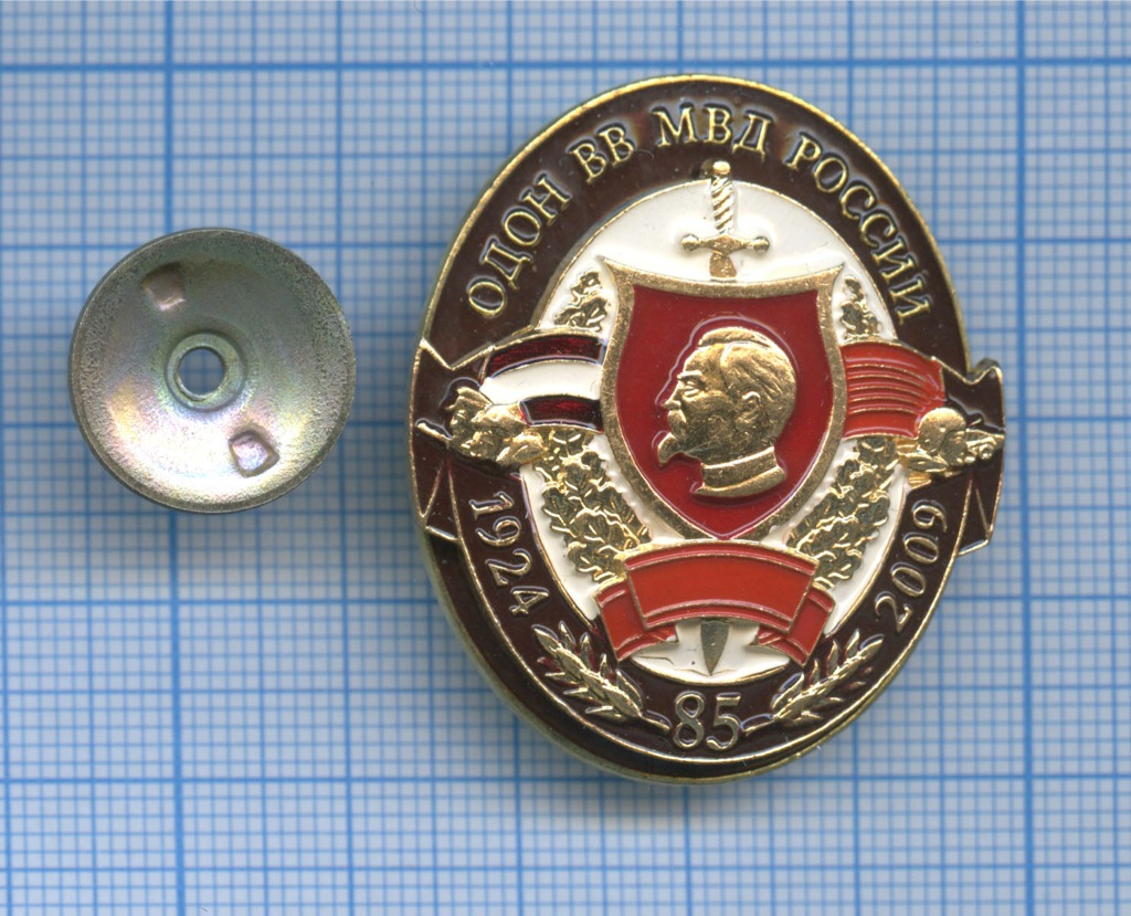 Знак «ОДОН ВВМВД России 1924-2009» (Россия)