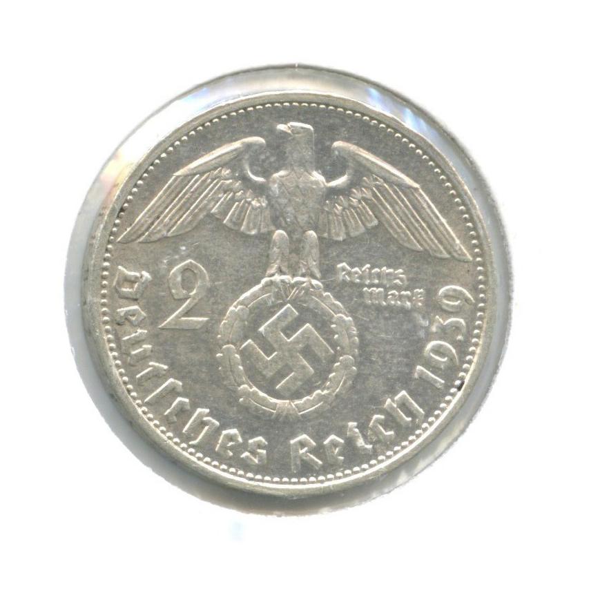 2 рейхсмарки (вхолдере) 1939 года G (Германия (Третий рейх))