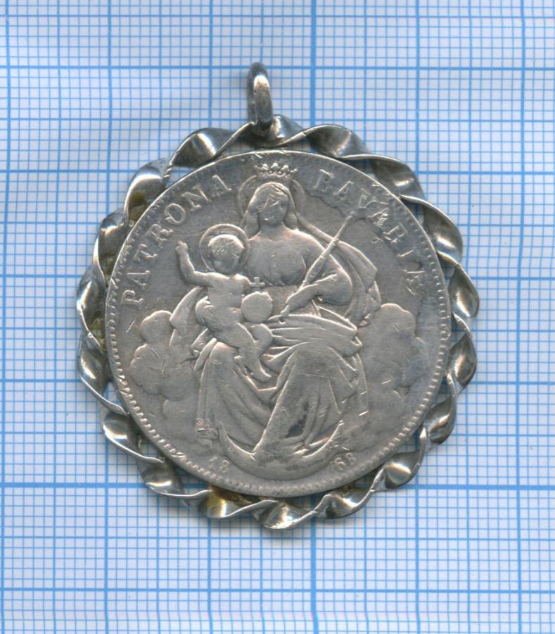Монета-подвеска «1 талер - Людовик II (серебро 900 пробы), Бавария» 1868 года