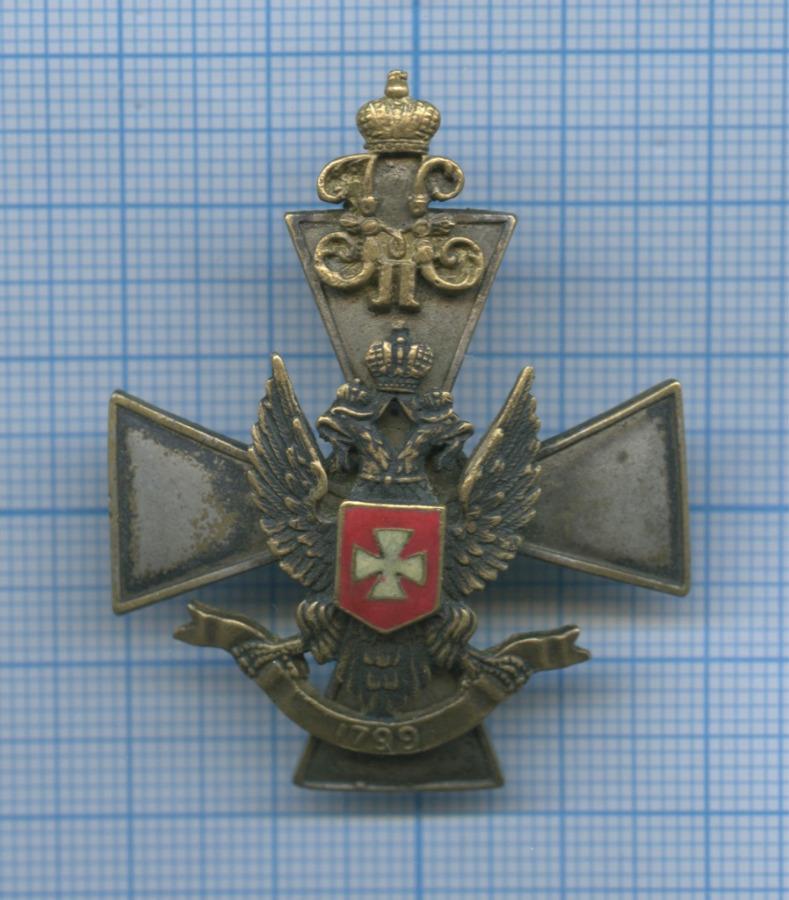 Георгиевский серебряный крест лейб-гвардии 3-го Стрелкового Его Величества полка (крест - оригинал, орел - новодел) (Российская Империя)