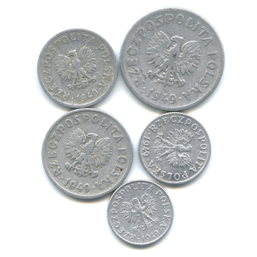 Набор монет 1949 года (Польша)