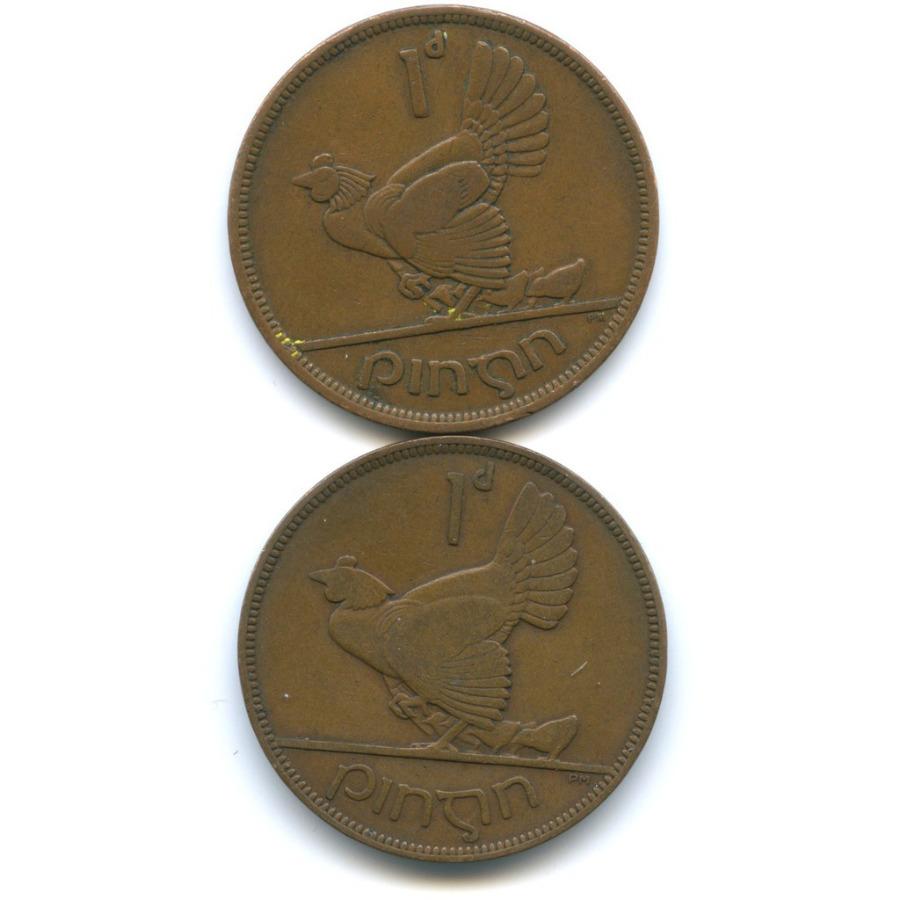 Набор монет 1 пенни 1937, 1942 (Ирландия)