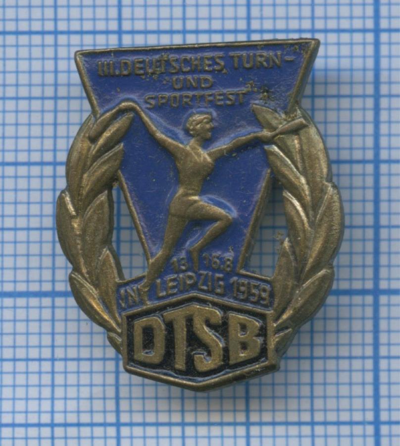 Знак «III Deutsches Turn - und Sportfest» 1959 года (Германия)