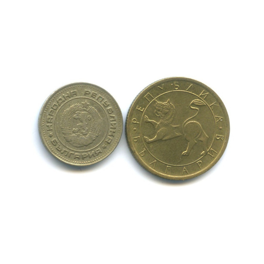 Набор монет 1974, 1992 (Болгария)