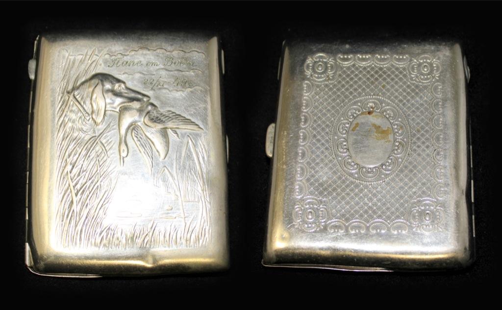 Портсигар (сгравировкой «Папе отВовы. 22/XI - 49 г.»), 11×8,5 см (СССР)