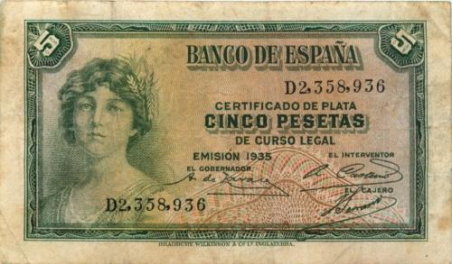 5 песет 1935 года (Испания)
