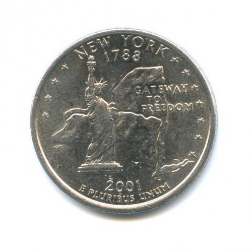 25 центов (квотер) — Квотер штата Нью-Йорк 2001 года P (США)