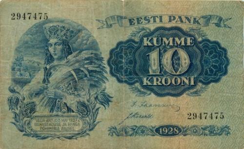 10 крон 1928 года (Эстония)