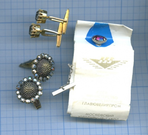 Набор запонок сзаколкой для галстука