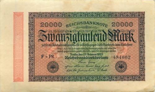 20 тысяч марок 1923 года (Германия)