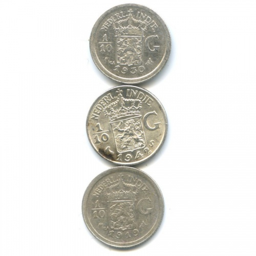 Набор монет 1/10 гульдена - Нидерландская Индия