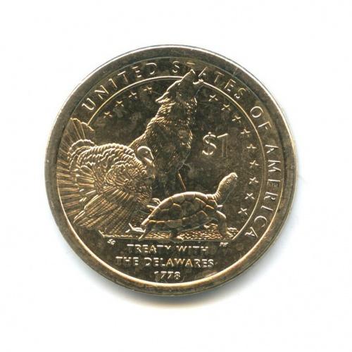 1 доллар — Коренные Американцы - Делаверский договор 1778 года 2013 года D (США)