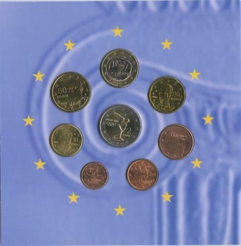Набор монет - Олимпийские игры, Афины (вбуклете) 2002-2004 (Греция)