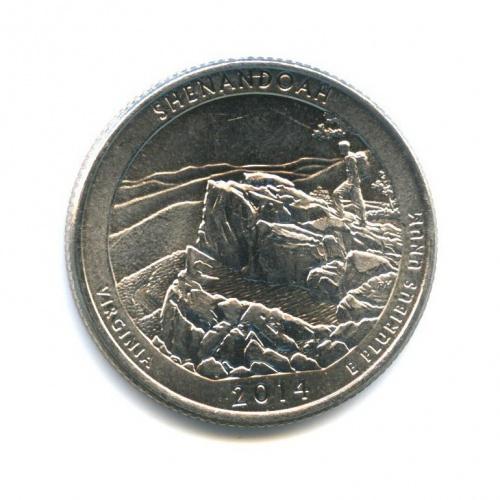 25 центов (квотер) — Национальный парк Шенандоа 2014 года D (США)