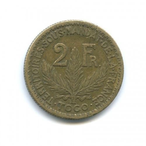 2 франка, Французская Западная Африка, Того 1924 года