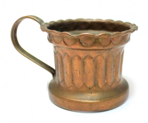 Кружка (медь, Европа, 6,5×8 см)