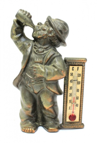 Фигурка-термометр (бронза, Европа) 11,5 см