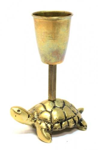 Подсвечник «Черепаха» (латунь, 7 см)