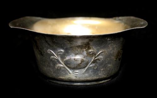 Вазочка (серебрение, внутреннее золочение, клеймо «PRIMA N. S», 10,5×4,5 см)