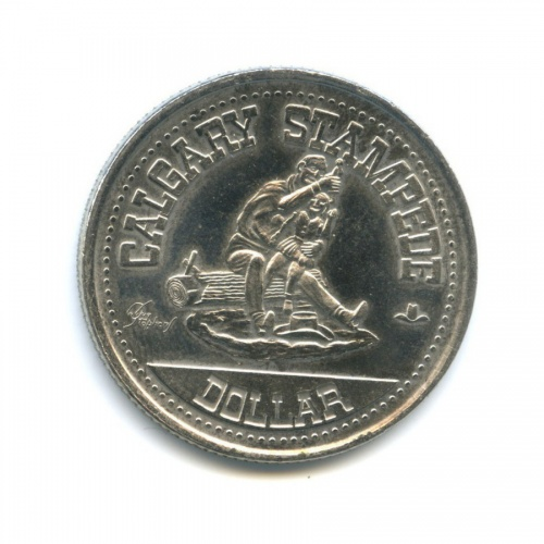 Жетон «Calgary Stampede Dollar» 1980 года