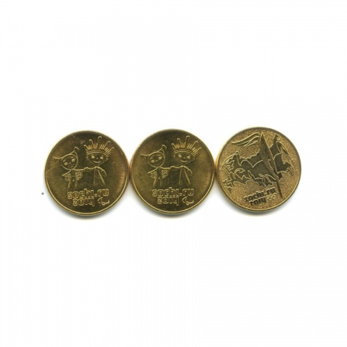 Набор монет 25 рублей - Олимпийские игры, Сочи-2014 (позолота) 2014 года (Россия)