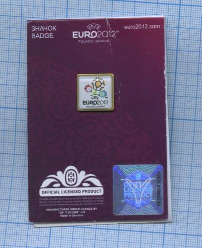 Значок «UEFA EURO 2012» (соткрыткой) 2012 года (Украина)