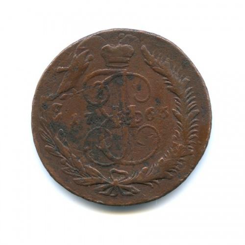 5 копеек. Перечекан 1763 года ММ (Российская Империя)
