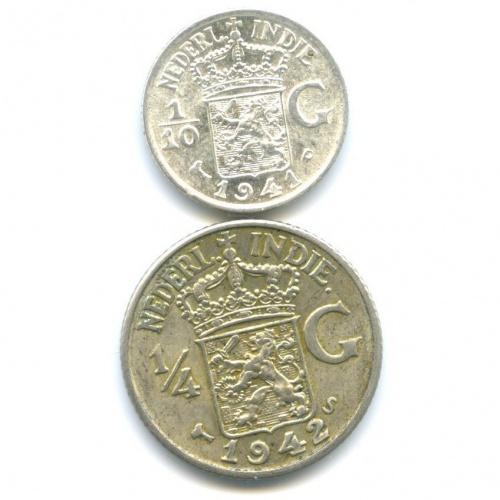 Набор монет - Нидерландская Индия 1941, 1942
