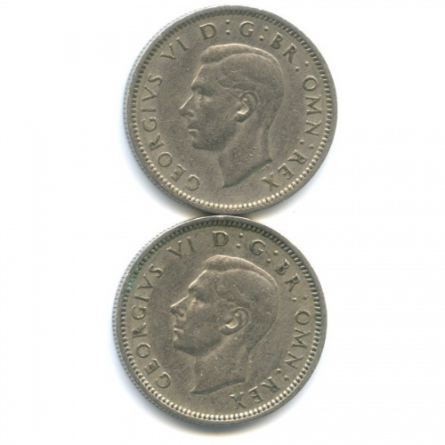 Набор монет 6 пенсов 1948, 1950 (Великобритания)